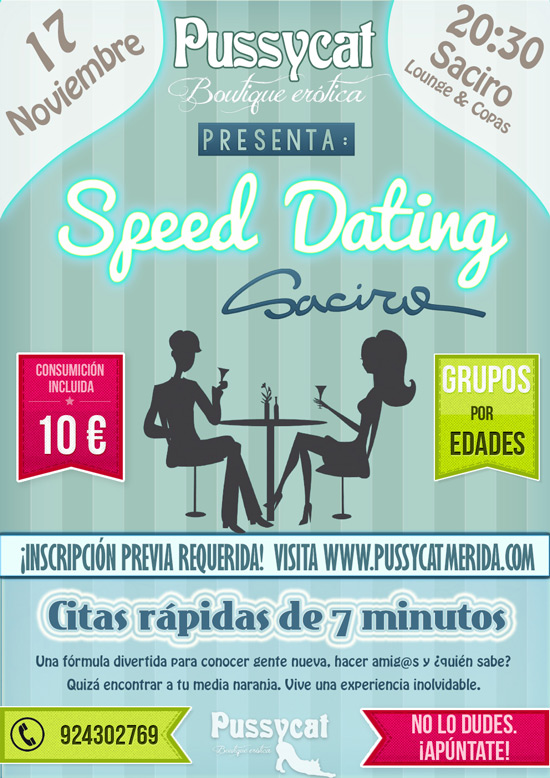 Cartel informativo del Speed Dating del 17 de noviembre en SACIRO